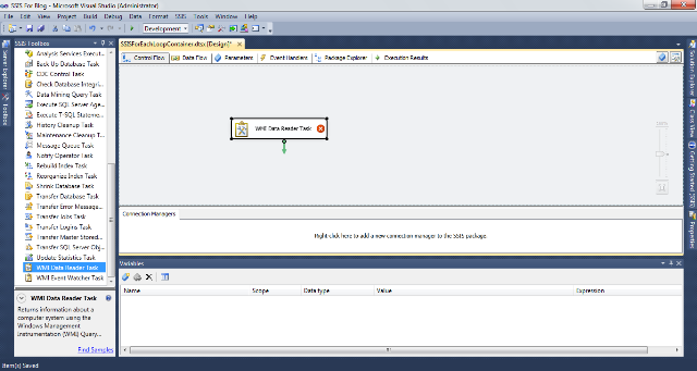 SSIS Package Disk Space With WMI 1