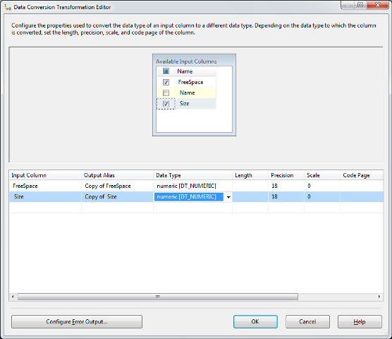 SSIS Package Disk Space With WMI 10