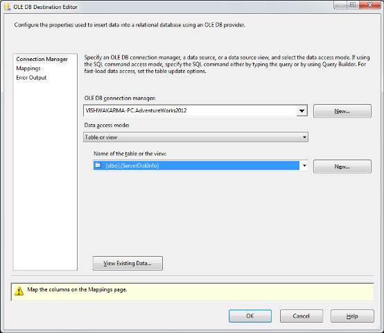 SSIS Package Disk Space With WMI 11