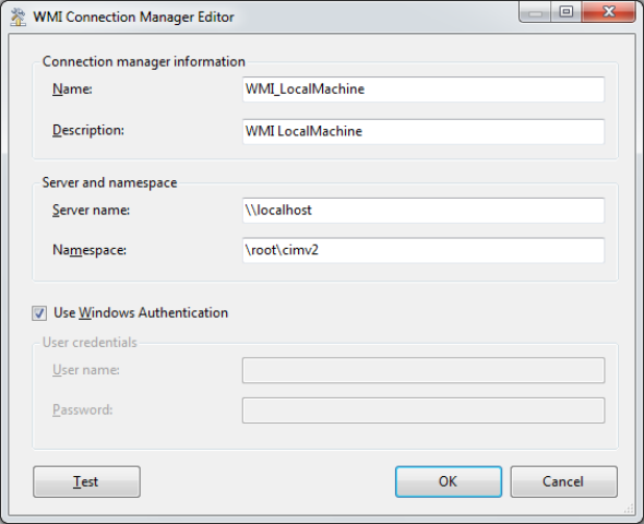 SSIS Package Disk Space With WMI 4