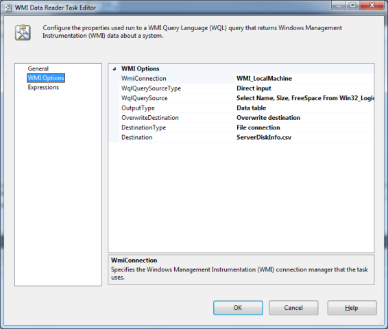 SSIS Package Disk Space With WMI 7 New