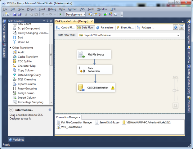 SSIS Package Disk Space With WMI 8 New