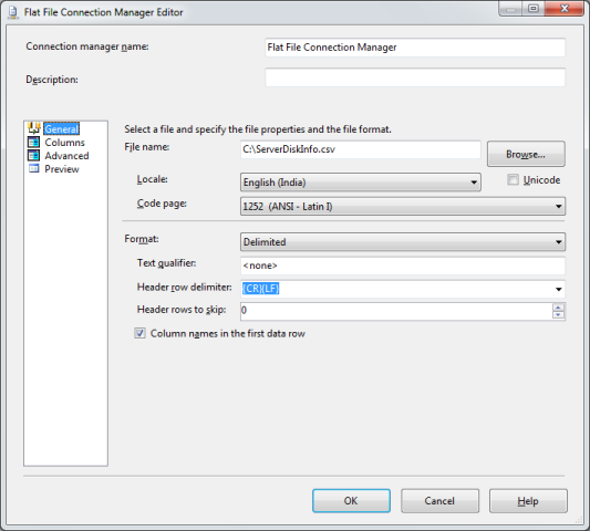 SSIS Package Disk Space With WMI 9